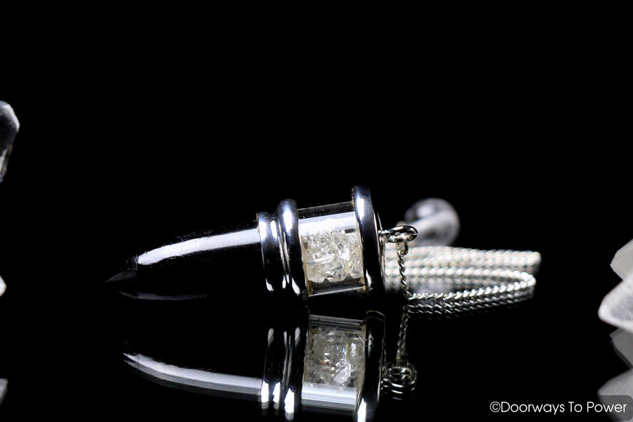 Black Tourmaline & Herkimer Diamonds Pendulum