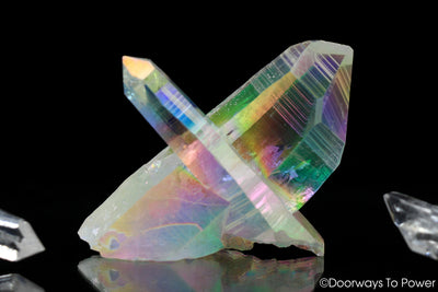 Angel Aura Quartz Lemurian Crystal