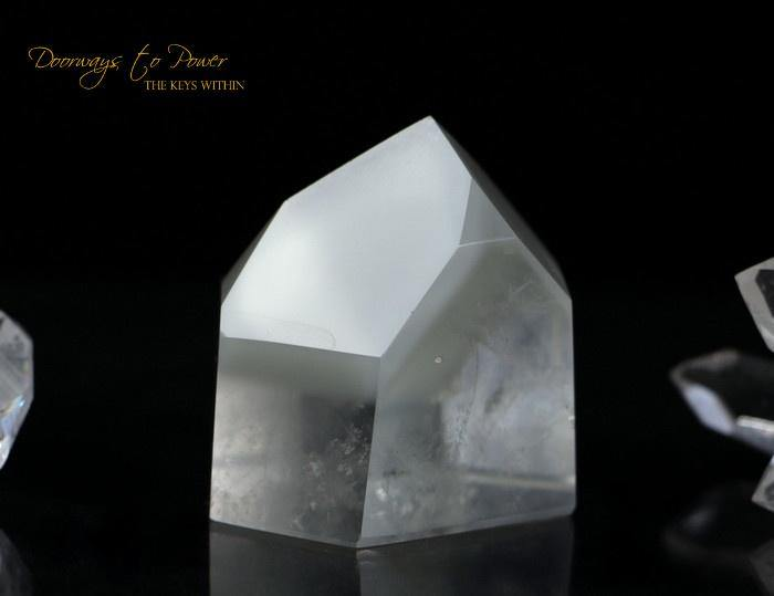 Lemurian White Phantom Quartz Shaman Dow Crystal 'RE BIRTH""