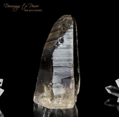 Golden Lemurian Seed Quartz Record Keeper Crystal