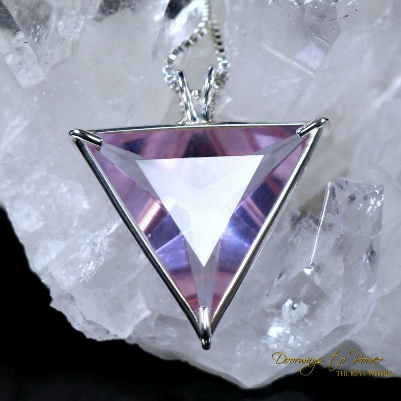 Ruby Lavender Quartz Angelic Star Pendant