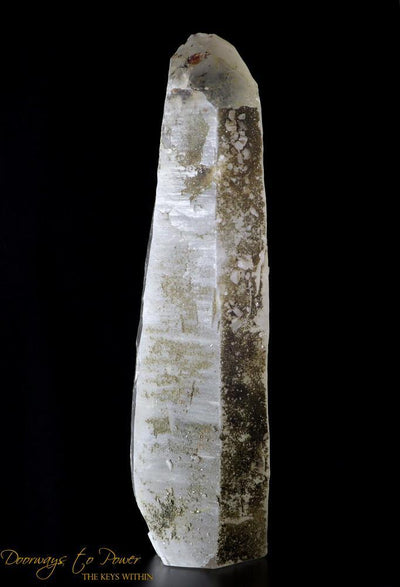 Laser Quartz Point with Pyrite