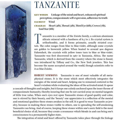 Tanzanite Metaphysical Properties