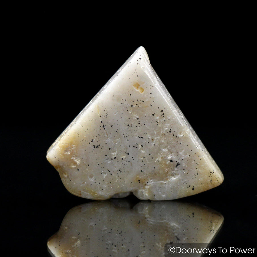 Honey & Cream Azeztulite Crystal Tumbled & Polished
