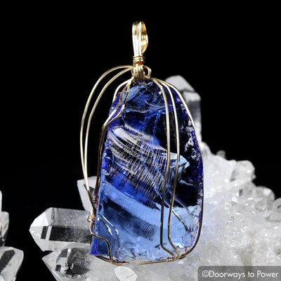 Majestic Elestial Starlight Sapphire Andara Pendant 14k \ OverSoul \ 6D