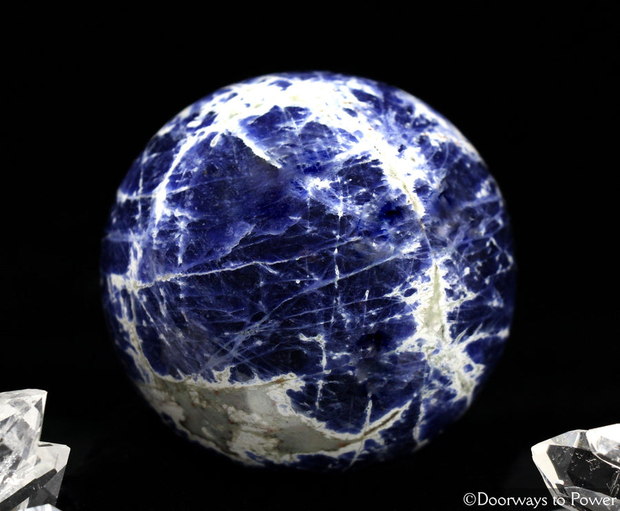 John of God Quartz Sodalite Crystal Sphere