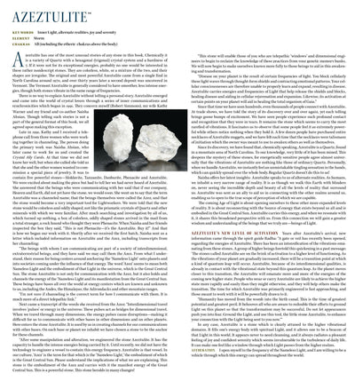 Azeztulite Metaphysical Properties