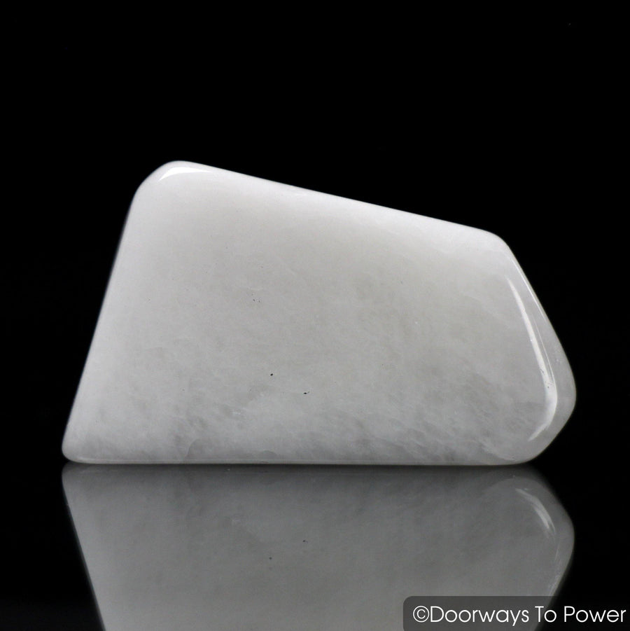 White Azeztulite Crystal Tumbled & Polished Gemstone