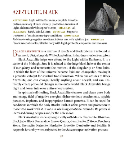 Black Azeztulite Metaphysical Properties Book of Stones