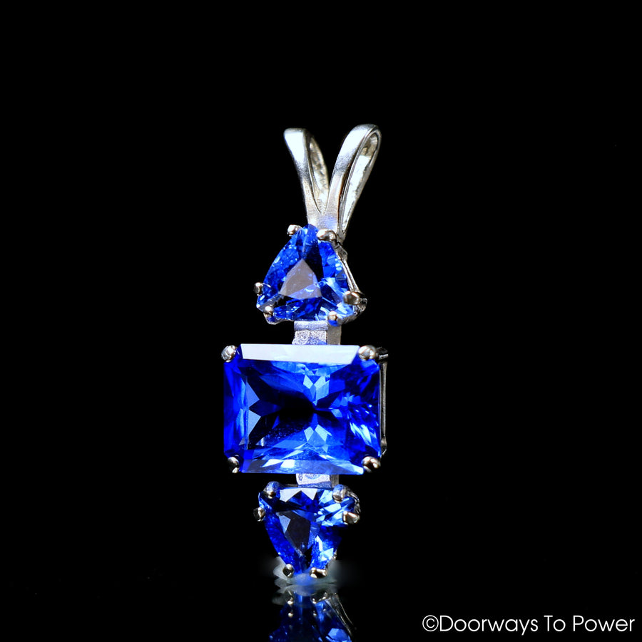 Siberian Blue Quartz Gemstone Crystal Pendant