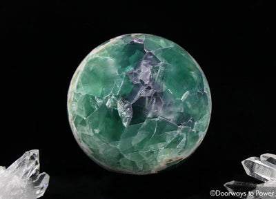 Green Purple Fluorite Crystal Sphere