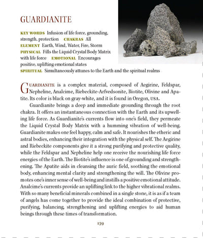Guardianite Properties Book of Stones