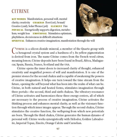 Citrine Metaphysical Properties