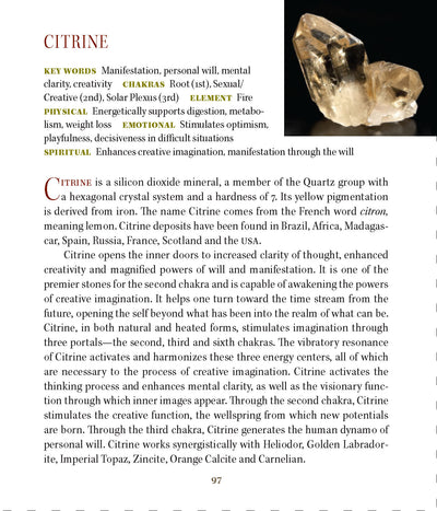 Citrine Metaphysical Properties - Book of Stones