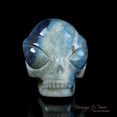 Dumortierite Star Traveler Crystal Skull