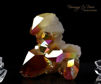 Arkansas Quartz Crystal Cluster Golden Aura
