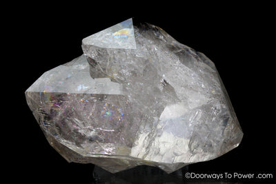 Herkimer Diamond Double Terminated Tantric Twin Record Keeper Crystal 'TWIN SOULS'