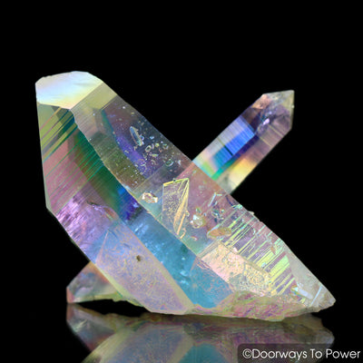 Angel Aura Lemurian Record Keeper Crystal