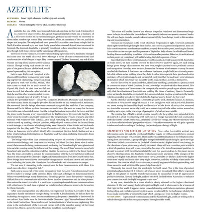 White Azeztulite Metaphysical Properties meanings - Book of Stones