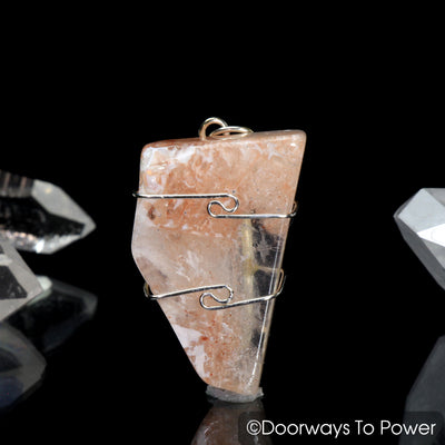 Pink Fire Azeztulite Crystal Pendant