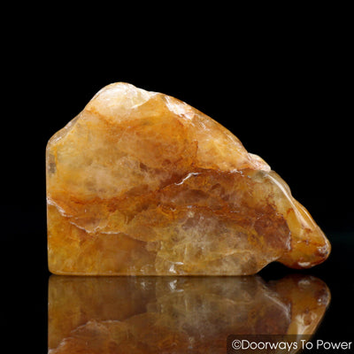 Himalaya Red Gold Azeztulite Crystal Tumbled & Polished Stone