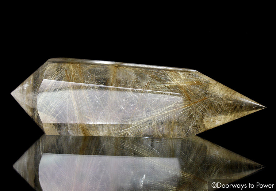 Golden Rutilated Quartz Vogel Crystal Dream Wand 'The Illuminator'