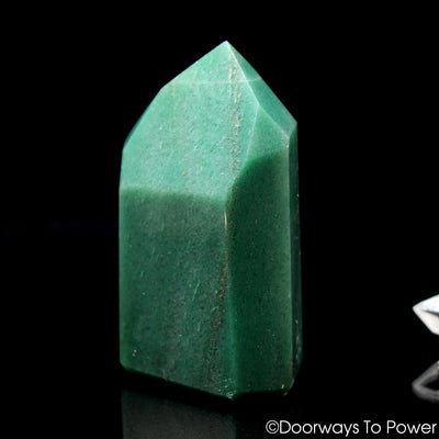 John of God Green Aventurine & Pyrite Casa Crystal