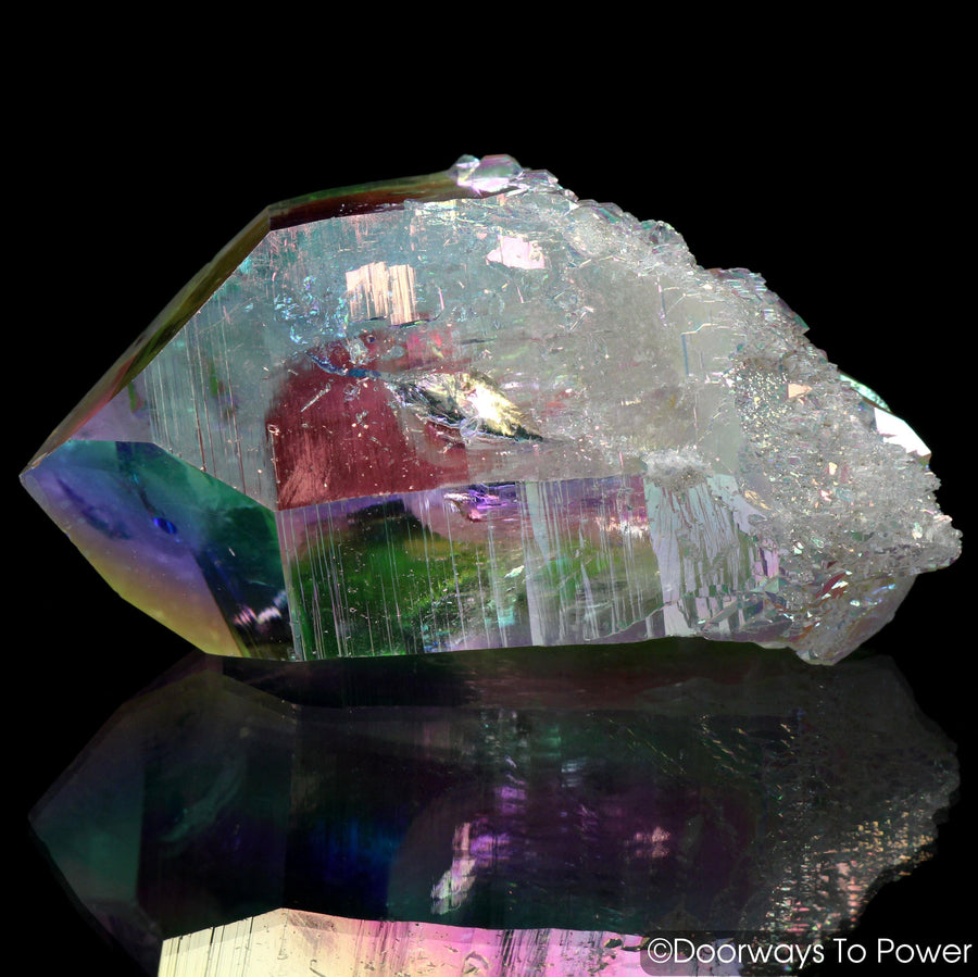 Angel Aura Lemurian Lightbrary Quartz Dow Record Keeper Crystal