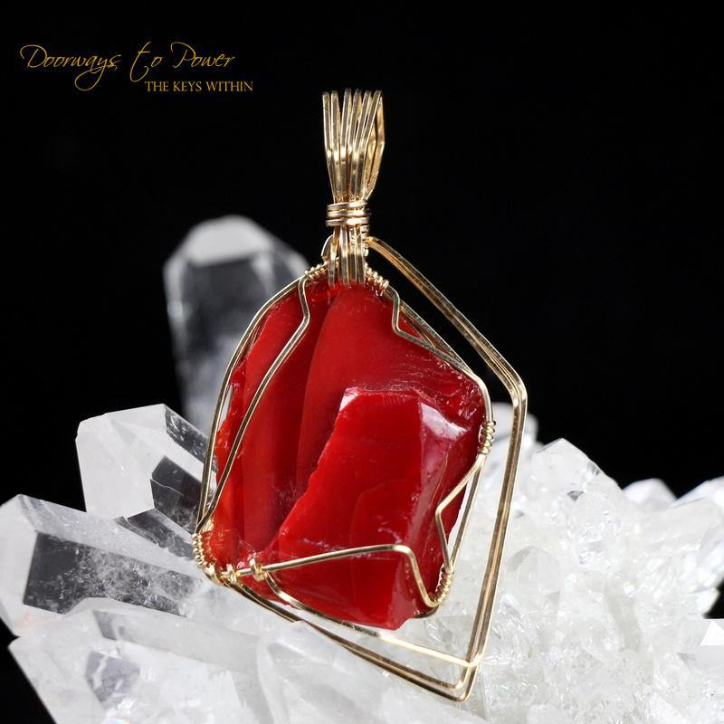 Dragons Blood Andara Pendant 14k 'Magic & Alchemy'