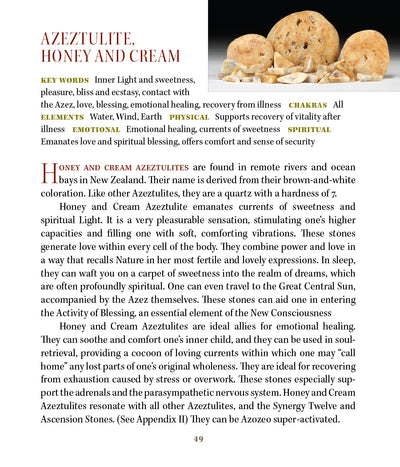 Honey & Cream Azeztulite Meanings Metaphysical Properties
