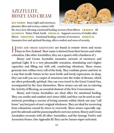 Honey cream azeztulite Properties