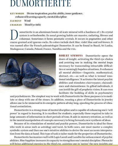 Dumortierite Properties Book of Stones