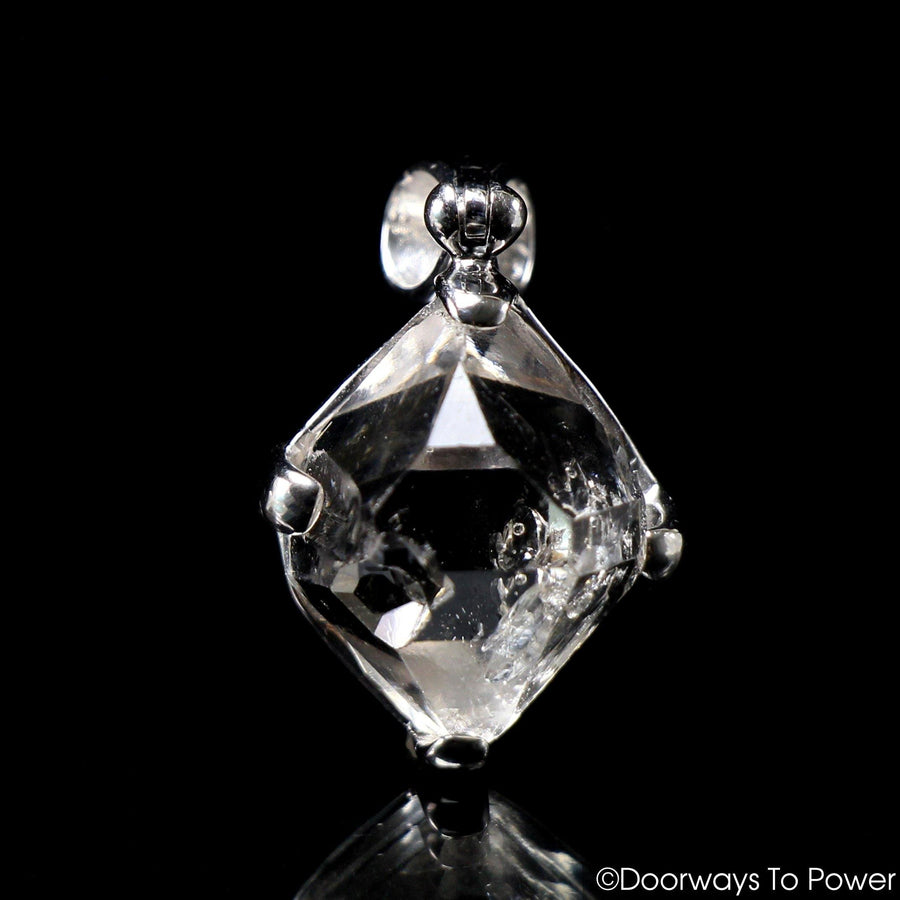 Herkimer Diamond Manifestation Quartz Record Keeper Crystal Pendant