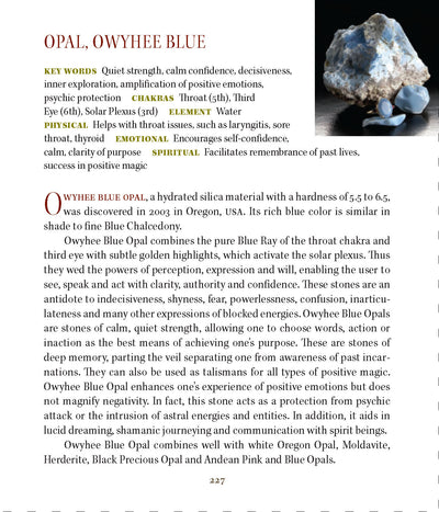 Owyhee Blue Opal Meanings Metaphysical Properties
