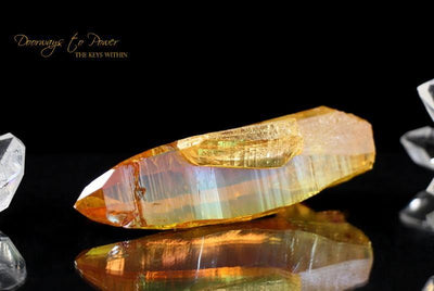 Golden Aura Quartz Lemurian Record Keeper Crystal