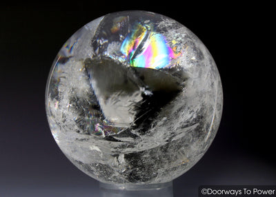 Starseed Lemurian Seed Quartz Crystal Sphere Ball 'Holographic Connection'