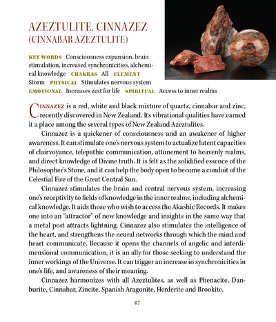 Cinnnazez Azeztulite Metaphysical Meanings Properties - Book of Stones