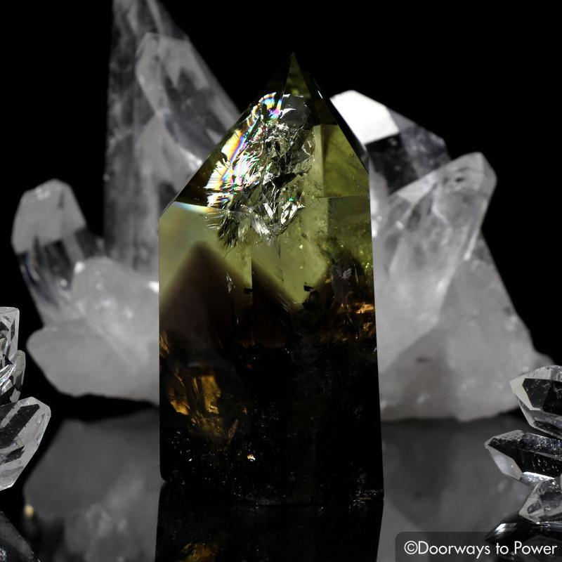 Citrine Smoky Phantom Quartz Isis Crystal w/ Rainbows