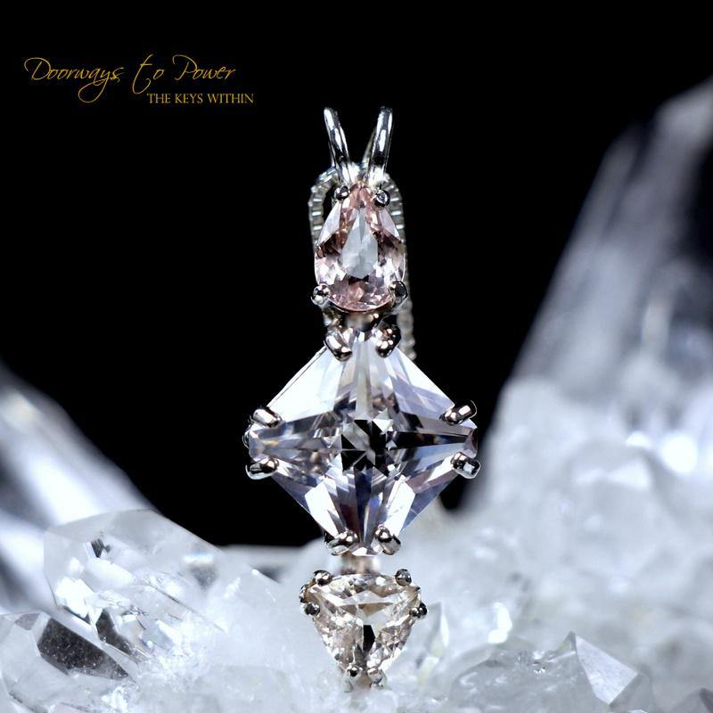 Morganite Danburite & Morganite Mini Magician Stone Pendant
