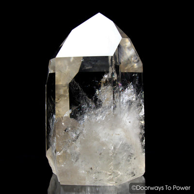 Golden Lemurian Seed Pleiadian Starbary Quartz Crystal Point