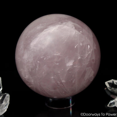 John of God Blessed Rose Quartz Healing Crystal Sphere
