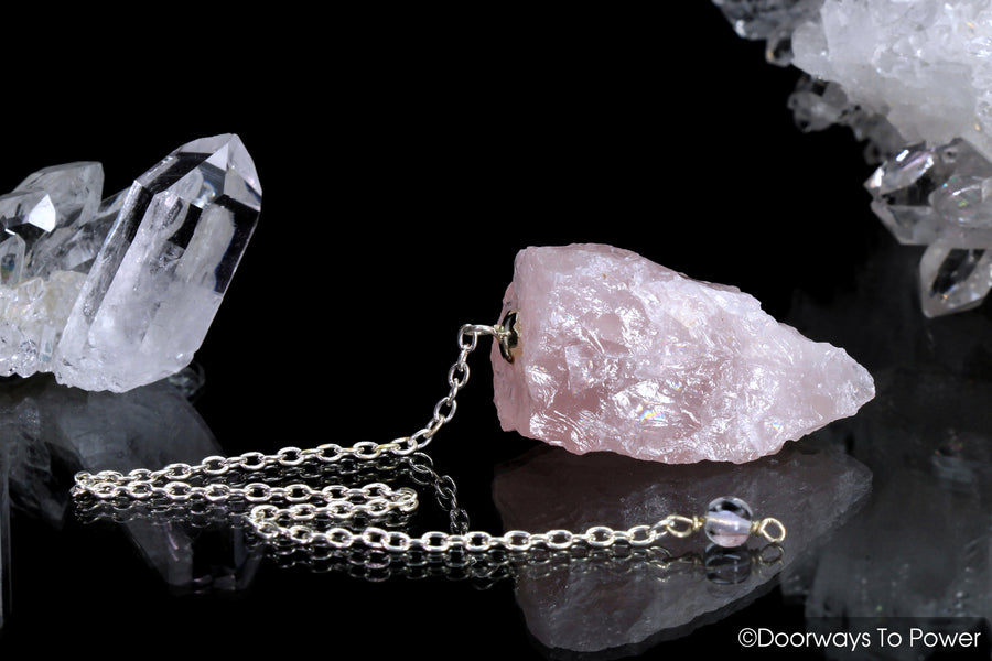 Rose Quartz Crystal Pendulum Blessed & Energized