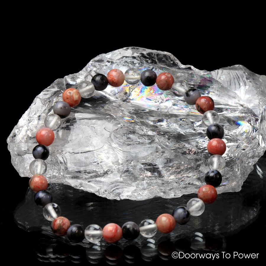 Magic of Transformation 2021 Satyaloka Clear, Cinnazez Azeztulite & Mystic Merlinite Crystal Bracelet