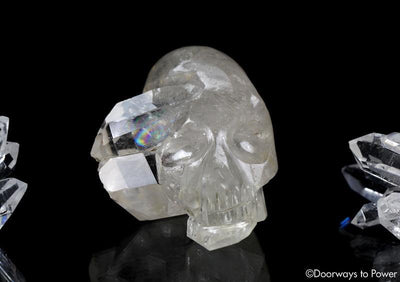 Double Terminated Twin Quartz Crystal Skull by Leandro