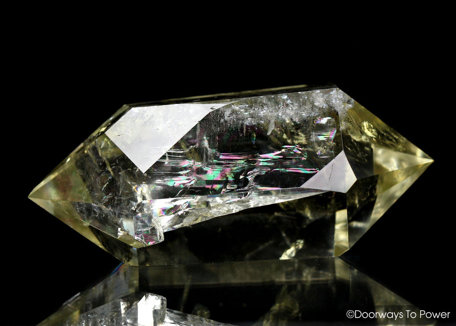 John of God Citrine DT Quartz  Isis Crystal Rainbows