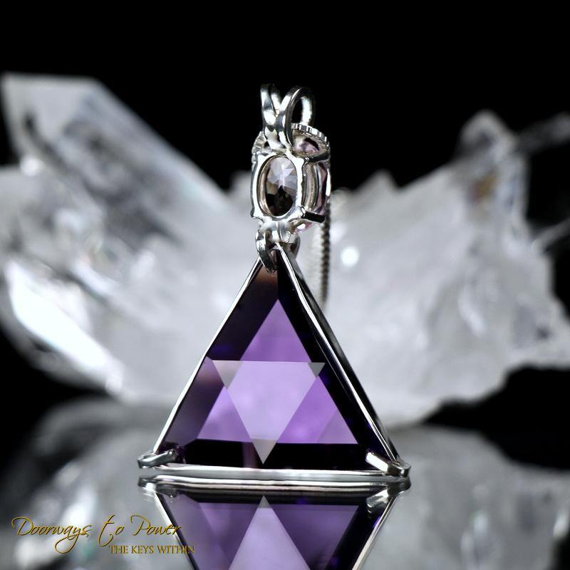 Siberian Purple Quartz & Morganite Star of David Pendant
