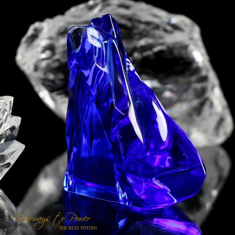 Siberian Blue Quartz Crystal 'Everything is Possible'