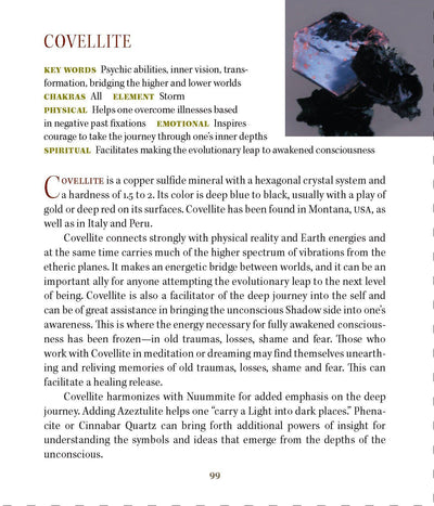 Covellite metaphysical properties
