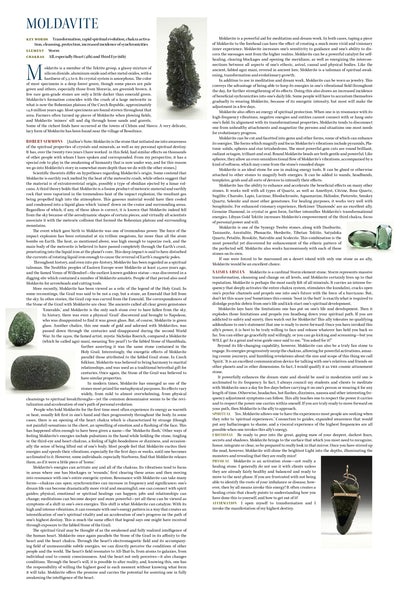 moldavite metaphysical Properties