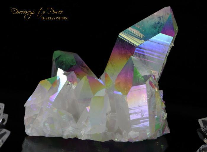 Angel Aura Arkansas Quartz Cluster Record Keeper 'Vortex Activation'